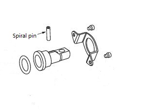 101/102 series pump spare parts 391-2085-009 spiral pin
