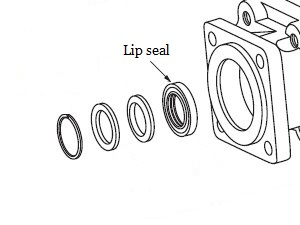 102 pump parts 391-2883-119 391-2883-115 lip seal